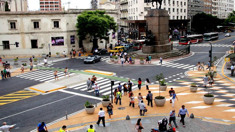 Intervenciones peatonales en Buenos Aires